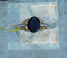 Thai Black Spinel RING 14K Gold/Silver (sz 6) TGW 2.40 cts.
