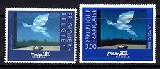 Belgium+France**René MAGRITTE Surrealisme paintings-2 stamps-ART-peintures-1998