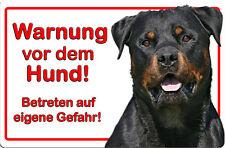 ROTTWEILER - A4 Metall Warnschild SCHILD Hundeschild Alu Türschild - RTW 19 T57D