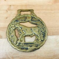 Vintage Horse Brass  Cow / Bull   Design