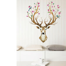 Bedroom Removable Sika Deer Pattern PVC Stickers Christmas Decoration  60x90cm