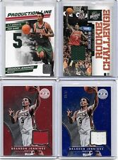 BRANDON JENNINGS LOT OF (6) DIFFERENT AUTHENTIC GAME WORN JERSEY CARDS