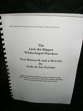JACK THE RIPPER-'THE JACK THE RIPPER WHITECHAPEL MURDERS' NEW RE - RESEARCHED!
