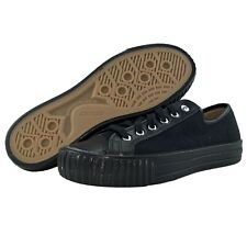 PF Flyers Made in USA Center Low Shoes Size 9.5 Mens Canvas Chucks Black Gum