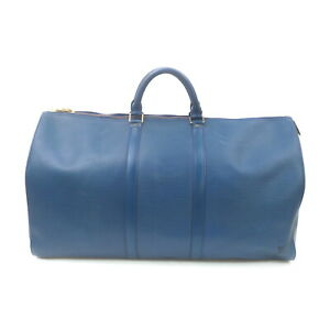 Louis Vuitton LV Boston Bag Keepall 55 Blue Epi M42955 Blue Epi 1529110