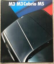 BMW SERIE 5 Touring 1992 UK MKT Prestige BROCHURE DI VENDITA PROSPEKT-E34