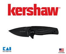 """Kershaw Knives 1313BLK Spoke Folding Knife 2"""" 4CR14 Black Plain Blade"""