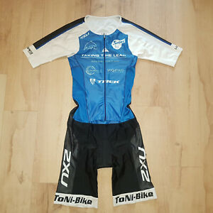 2XU Aero Tri Suit Compression Skin Suit Triathlon Fitness Cycling Men Size M
