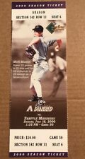Arizona Diamondbacks Seattle Mariners July 2000 Unused Ticket Rickey Henderson