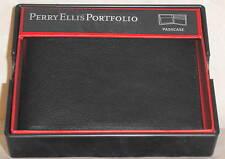 Perry Ellis Portfolio Black Bifold Mens Wallet #964511/08 MSRP$40
