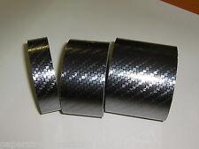 Diagonal Carbon Fiber, Gun Metal Black Vinyl Tape 1 Inch x 25 feet