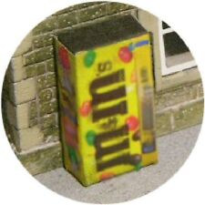 OO SCALE GAUGE M&M SNACK SWEETS VENDING MACHINE FOR HORNBY MODEL RAILWAY STATION