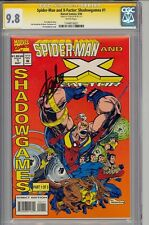 Spider-Man & X-Factor Shadowgames #1 Cgc 9.8 W Stan Lee 1 Of 1 Cgc #1144916021