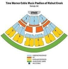 Awesome Kenny Chesney 3 tickets Time Warner Pavilion Raleigh, NC 5/23/2013