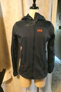 Helly Hansen Women's Lightweight Jacket Small Navy Blue Hooded Ski Layer