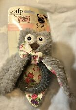 All for Paws AFP Shabby Chic Ballerina Owl Ring Plush Squeaky Dog Puppy Toy