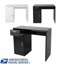 Home Office Computer Desk Workstation Laptop Table Shelves Drawer Door Study New