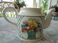 "Velleroy and Boch 1784 China  "" Baskets"" Pattern Tea Pot no Lid 5 Cup"