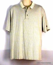 Antigua Men's Golf Polo SS Shirt White/Gray Checkered Pattern Size Large