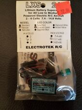 ELECTROTEK R/C LXS 21 LITHIUM BATTERY SAVER NEW IN PACKAGE LED GREEN