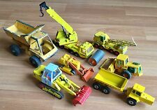 VTG DIECAST LAING MATCHBOX 74 LESNEY CORGI SOLIDO TOY CONSTRUCTION VEHICLE LOT