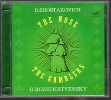 D. Shostakovich The Nose  The Gamblers (Rozhdestvensky) 2 CD Opera