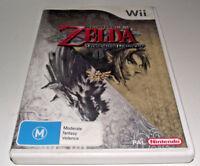 Legend of Zelda Twilight Princess Nintendo Wii PAL *Complete* Wii U Compatible