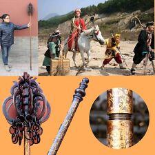 Copper Buddhism Khakkhara Nine ring Xizhang monk's staves Vajra Dorje stick#0063