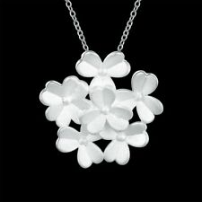 Elegant 925 Hallmark Sterling Silver Filled Snowflake Pendant Necklace N517