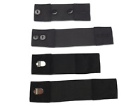 Stretch Elastic Pant Waistband Extender Variety Pack - 4 Pieces, Black