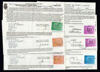 TEN 1980s 1980 - 1989 GB UK British Television TV Licenses Fiscal Revenue Stamps