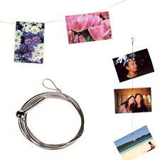 Porte photos Fil métallique avec 12 aimants - Accroche photo magnétique - Cadeau