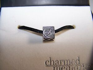 """KAY JEWELERS CHARMED MEMORIES LETTER """"J"""" STERLING SILVER  CHARM SIGNED"""