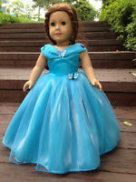 "Cinderella dress inspired by Disney's movie for American girl 18"" Doll Clothes"