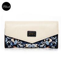 Women PU Card Holder Purse Lady Leather Clutch Wallet Long Handbag