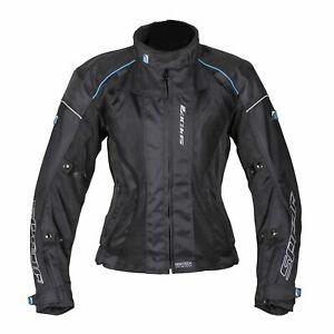 Spada Air Pro 2 Textile Ladies Motorcycle Motorbike Touring Jacket - Black