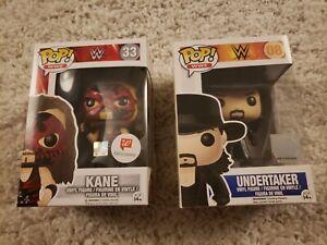 FUNKO POP WWE UNDERTAKER 08 + Walgreens Exclusive Kane Free Shipping