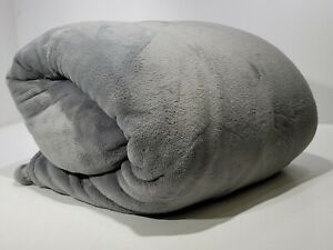 Ultra Soft 100% Polyester Solid Gray King Blanket XXL Throw