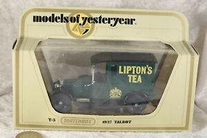 Models of yesteryear Lipton's tea 1927 talbot matchbox boxed