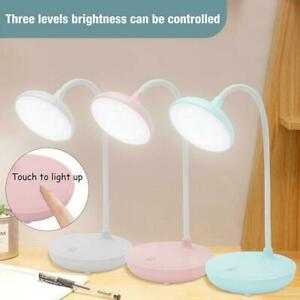 LED Dimmable Reading Desk Lamp Flexible Bedside Table  Night Light NICE