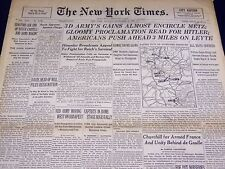 1944 NOVEMBER 13 NEW YORK TIMES - 3D ARMY ENCIRCLE METZ - NT 2384