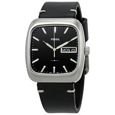 Fossil Rutherford Black Dial Mens Leather Watch FS5330