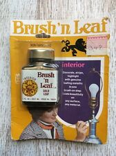 Vintage Brush' N Leaf Interior Gold Leaf Paint!  Nos New!  Rub' N Buff. #il-3