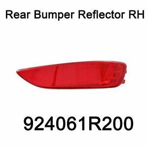 Genuine Rear Bumper Reflector Right RH Oem 924061R200 For Hyundai Accent 11-16