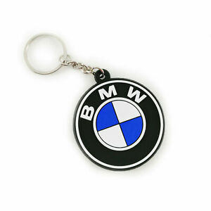New BMW Logo Motorcycle Rubber Keychain