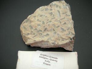 Granite, Feldspar And Quartz Mineral Specimen Kola Peninsula, Russia 220 Grams