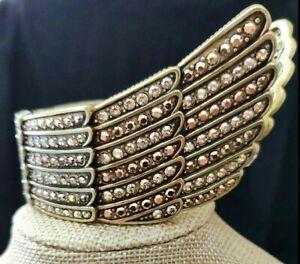 "HEIDI DAUS ""Heidi's Angels"" Winged Cuff Bracelet NWT Retail $200 S/M"