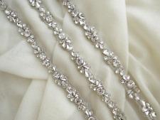Andri Silver Rhinestone Diamante Bridal Sash Wedding Dress Belt