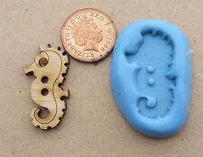 Bouton 3cm Réutilisables Silicone mer cheval moule, sugarcraft, bijoux, sécurité alimentaire