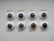 20mm FLAT BACK Glass Eyes REBORN/OOAK Baby DOLLS~Reborn Supplies~NEWBORN BLUE